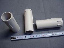 fausse bougie fourreau 24 mm x 80 mm gouttes blanc antique (réf L80) en carton