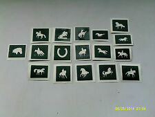 30 x horse theme mini small stencils for etching on glass showjumping equestrian