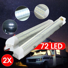 2pcs 12V 72 LED Interior Strip Light Bar ON/OFF Switch Car Van Caravan Boat