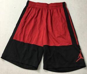 "Nike Men's 10"" Jordan Basketball Shorts AR2833 Black Red 010 Size S"