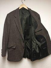 Vintage Joe Namath Sport Coat 44R 2 button Dry Clean,,Browns leather buttons,euc