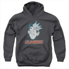 Archie Comics-Slacker Youth Pull-Over Hoodie Charcoal Extra Large Cotton Blend