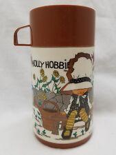 Holly Hobbie Thermos Brown Fall Autumn Theme Vintage Aladdin Thermo Bottle