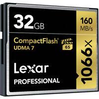 Lexar Professional 32GB Compact Flash 160MB/s CF Memory Card 1066x UDMA 7 VPG-65