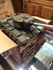 "VINTAGE Remco Bulldog Light Tank ""WORKING BOX & COMPLETE ACCESSORIES"""