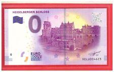 2017 GERMANY Souvenir Banknote 0 Euro Heidelberger Schloss XELU004623 Ltd 10K
