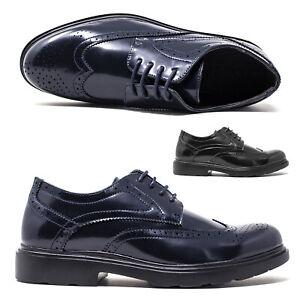 Scarpe da Uomo Classiche in eco Pelle Derby Eleganti Francesine Blu Nere 41 42 +