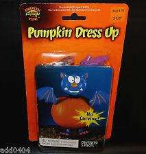 Pumpkin dress up - purple bat - 5 pieces - no carving - HALLOWEEN - NIP