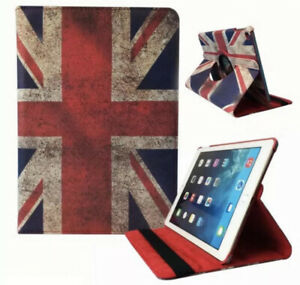Case Cover For iPad Air 2 Leather 360 Degree Rotating Smart Stand Various