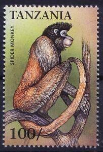 Tanzania 1999 MNH, Spider Monkey, Endangered Animals species