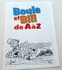 BOULE ET BILL 24 ROBA DOSSIER DE PRESSE 1996 RARE TBE