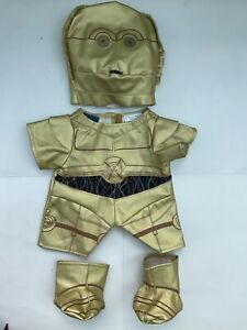 Build A Bear Workshop STAR WARS C3PO Costume - Rare!!!