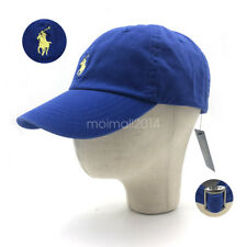 RL Polo Classic Small Embroidered Pony Chino Baseball Cap Running Hat Royal Blue