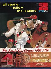 St. Louis Cardinals vs Pittsburgh Pirates 1976 baseball scorecard John Denny win