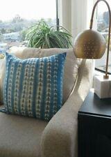 BoHo Decor Tie Dye Indigo Blue Pillow Cover Only 22 x 22