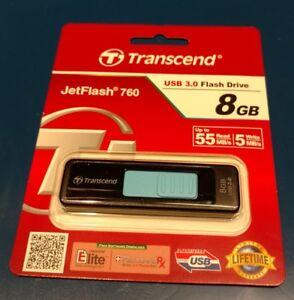 New Transcend 8GB JetFlash 760 USB 3.0 Flash Drives (TS8GJF760)