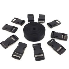 """1.5 Inch Wide 10 Yards Nylon Webbing Strap With 10 Pcs 1.5"""" Plastic Buckles New"""