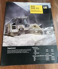 Caterpillar Tractor 953 963 873 Track Loader Special Product Brochure Rare
