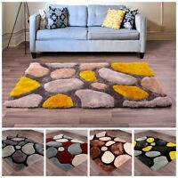 Modern Quality 3D Abstract Stepping Stones Pebble Tufted Pile Soft Thick Mat Rug