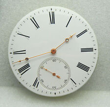 1840s Museum Piece Detent Pivot Helical Hairspring Fusee Pocket Watch Movement
