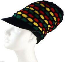 """rasta style Visière chapeau 14 """" - Multicolore nid d'abeilles"""