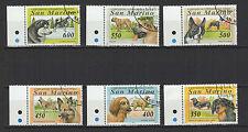 chien 1994 SAINT-MARIN San Marino un lot de 6 Timbres anciens  /T1152