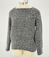 VINCE Womens Gray MARLED Wool Cashmere Blend Boatneck Raglan Sweater SMALL NWT