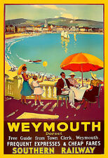 Travel Weymouth Southern Railway  Holiday  Vacation Poster Print