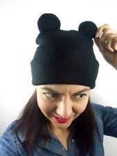 Bonnet noir beanie original oreilles animal souris ears hiver