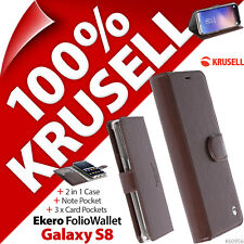 Krusell EKERO Folio Cartera 2 en 1 Base Funda libro para Samsung Galaxy S8
