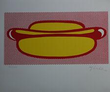 Limited POP ART edition silkscreen serigraph, signed Roy Lichtenstein w DOCS
