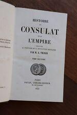 Histoire du Consulat et de l'Empire Napoléon I par Thiers 1845 Tome 2 1799-1801