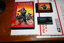 Shinobi III Return of the Ninja Master Sega Genesis GENUINE CART+BOX RARE!