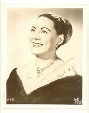 RENATA TEBALDI SIGNED AUTOGRAPHED VINTAGE 8 X 10 PHOTO DATED 1957 (502H)