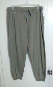 Bobbie Brooks Woman's Green Jogger Pants - Elastic Waistband - Size: XL