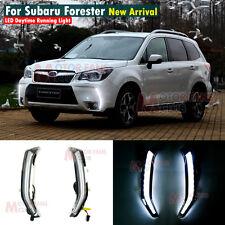 New LED Daytime Running Light For Subaru Forester Fog Driving Lamp DRL 2013 2014