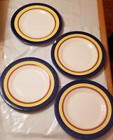 Set of 4 Studio Nova Rainbow 11 inch Dinner Plates kn104 New