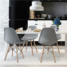 Dining Chairs with Beech Wood Legs and Metal Wires Kitchen Living Room 4pcs