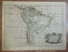 SOUTH AMERICA 1677 GIACOMO ROSSI UNUSUAL LARGE ANTIQUE MAP 17TH CENTURY