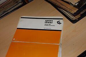 Case 980 Crawler Excavator Trackhoe Parts Manual Book Catalog list spare 1975