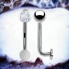 BASIC TITANIUM Vertical Hood Jewelry Jewel Christina Piercing Silver Venus Bar