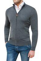 Maglione pullover uomo Diamond invernale casual grigio scuro golf cardigan zip