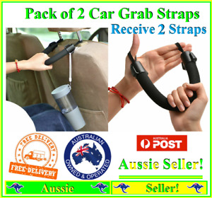 2 pack Car Headrest Head Rest Grab Strap Hand Support Handle Grip Aid