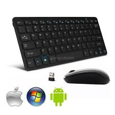 Slim Mini 2.4G DPI Wireless Keyboard + Optical Cordless Mouse Combo Set for PC