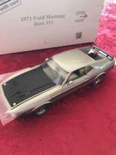 Danbury Mint 1971 Ford Mustang Boss 351 NIB with title  all docs
