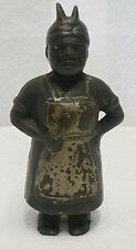 OLD CAST IRON AUNT JEMIMA COIN BANK DAMAGED