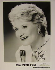 PATTI PAGE AUTOGRAPHED SIGNED 8 x 10 PHOTO w/COA TRADITIONAL POP MUSIC