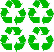 Recycling stickers, set of 4 recycling logo vinyl decals