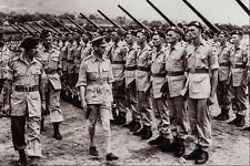 507066 King George VI Inspection Italy 1944 Stirton DND 128090 A4 Photo Print