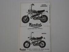 advertising Pubblicità 1972 MOTO MONDIAL MINI CROSS / MINI
